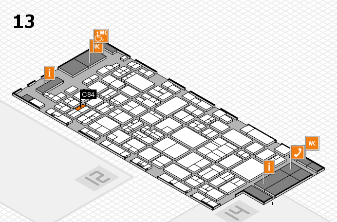 glasstec 2016 hall map (Hall 13): stand C84