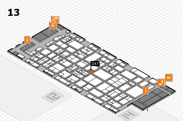 glasstec 2016 hall map (Hall 13): stand D47