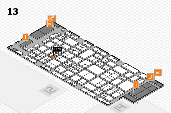 glasstec 2016 Hallenplan (Halle 13): Stand C73