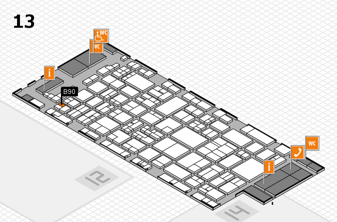 glasstec 2016 hall map (Hall 13): stand B90