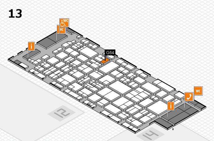 glasstec 2016 Hallenplan (Halle 13): Stand G64