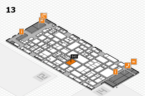 glasstec 2016 hall map (Hall 13): stand B45