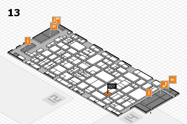 glasstec 2016 hall map (Hall 13): stand B23