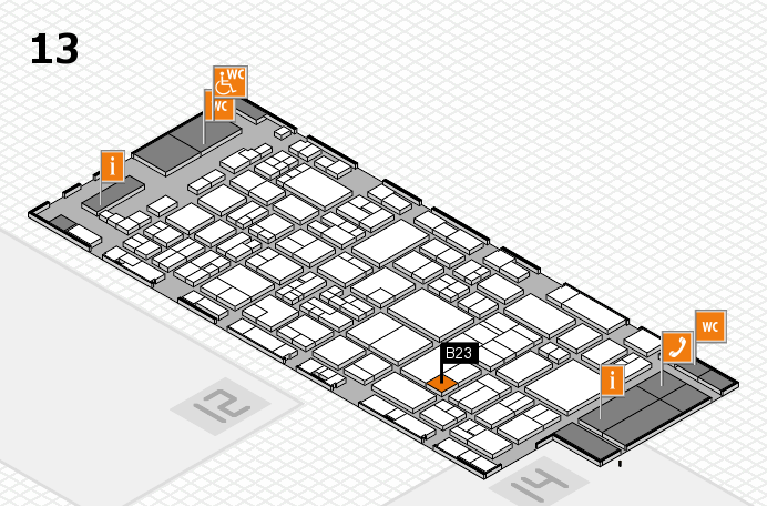 glasstec 2016 hall map (Hall 13): stand B23