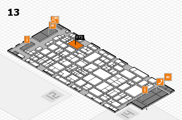 glasstec 2016 hall map (Hall 13): stand F73