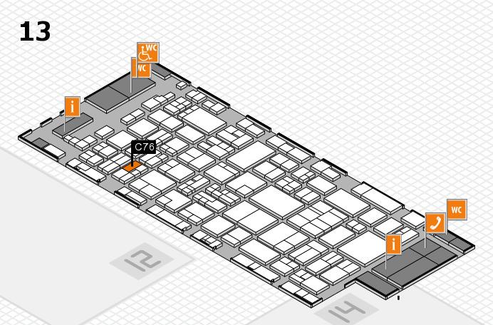 glasstec 2016 hall map (Hall 13): stand C76