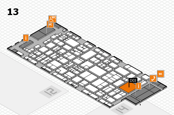 glasstec 2016 hall map (Hall 13): stand D03