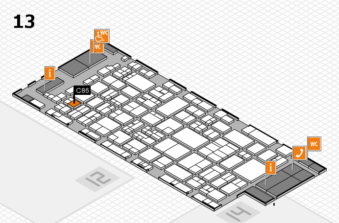glasstec 2016 hall map (Hall 13): stand C86