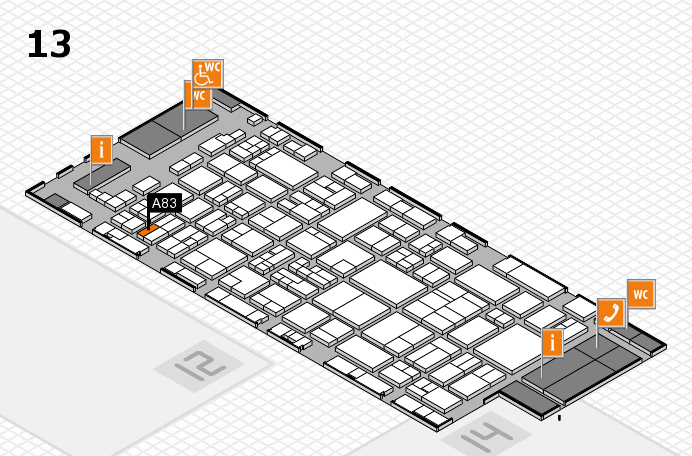 glasstec 2016 hall map (Hall 13): stand A83
