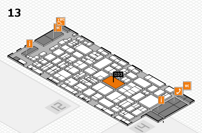 glasstec 2016 hall map (Hall 13): stand D33