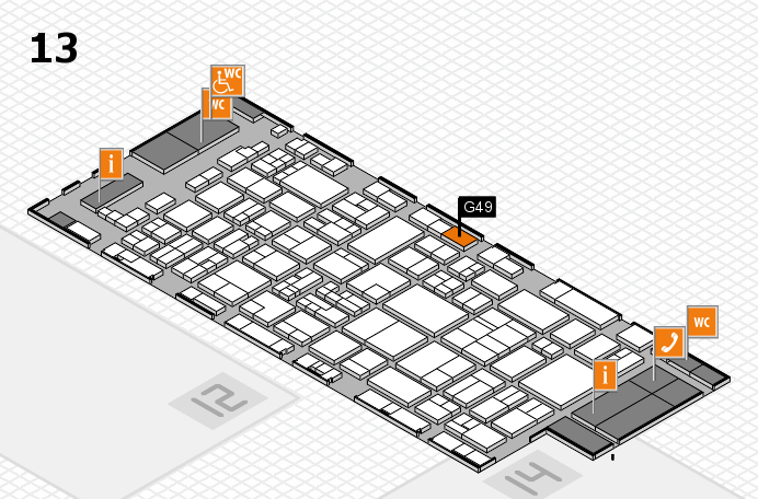 glasstec 2016 hall map (Hall 13): stand G49