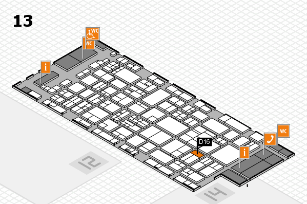 glasstec 2016 hall map (Hall 13): stand D16