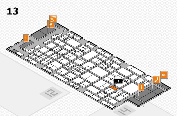 glasstec 2016 hall map (Hall 13): stand D16