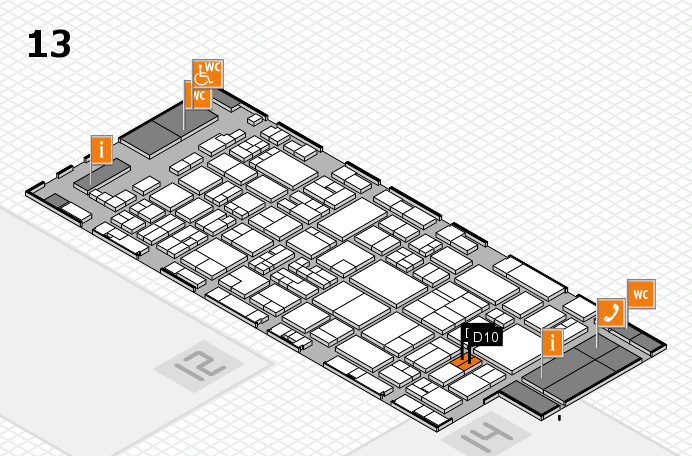 glasstec 2016 hall map (Hall 13): stand D10