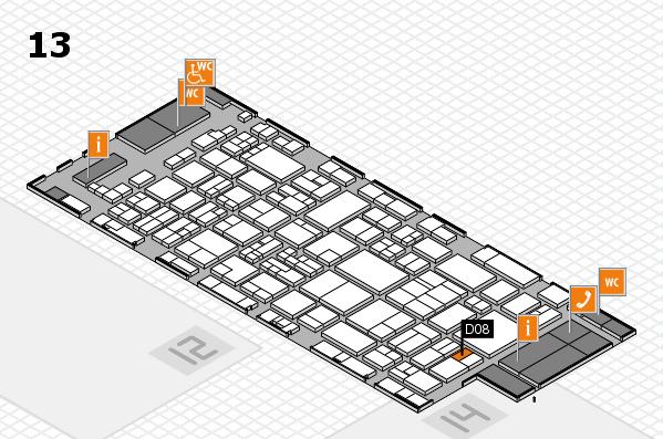 glasstec 2016 hall map (Hall 13): stand D08