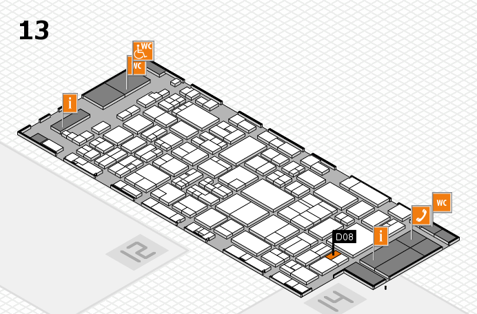 glasstec 2016 hall map (Hall 13): stand D08