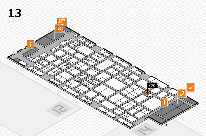 glasstec 2016 hall map (Hall 13): stand F20
