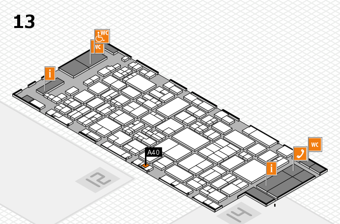 glasstec 2016 hall map (Hall 13): stand A40