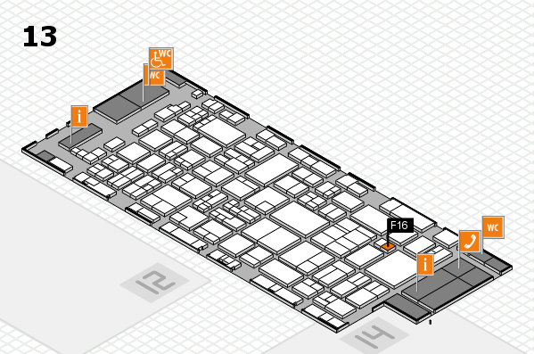 glasstec 2016 hall map (Hall 13): stand F16