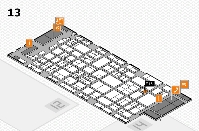 glasstec 2016 hall map (Hall 13): stand F16