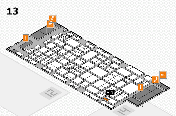 glasstec 2016 hall map (Hall 13): stand A13