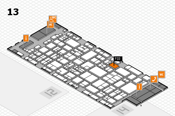 glasstec 2016 hall map (Hall 13): stand F33