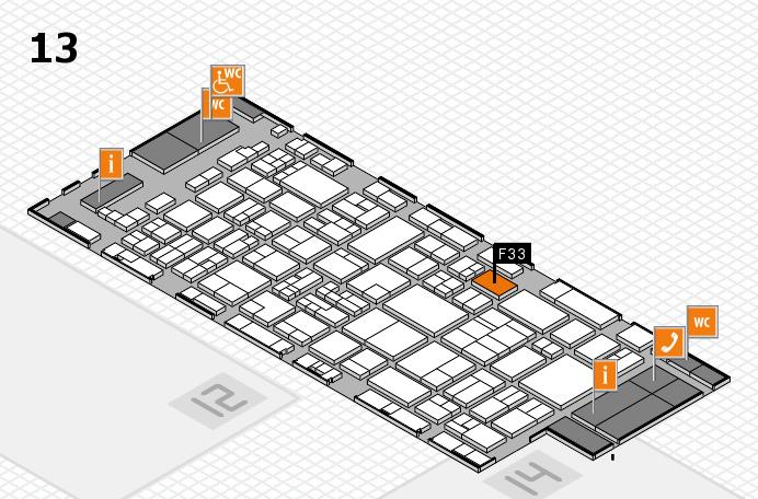 glasstec 2016 Hallenplan (Halle 13): Stand F33
