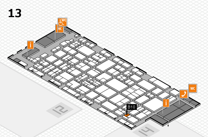 glasstec 2016 hall map (Hall 13): stand B10