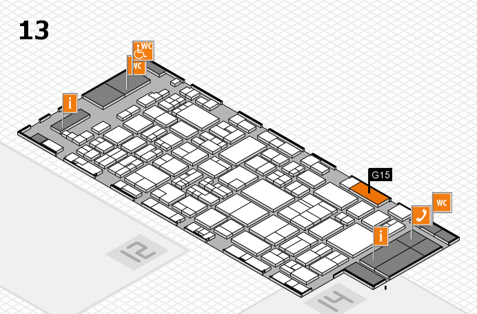 glasstec 2016 hall map (Hall 13): stand G15