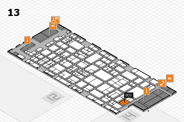 glasstec 2016 hall map (Hall 13): stand B03