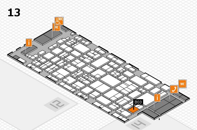 glasstec 2016 Hallenplan (Halle 13): Stand B03