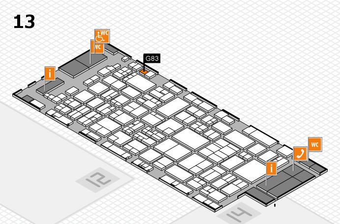 glasstec 2016 hall map (Hall 13): stand G83