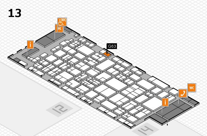 glasstec 2016 hall map (Hall 13): stand G63