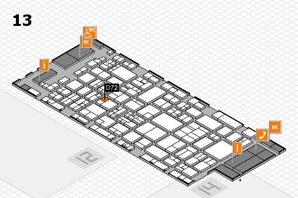glasstec 2016 hall map (Hall 13): stand D72