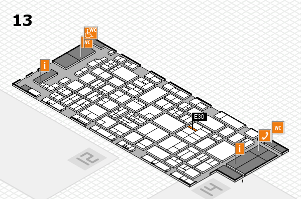glasstec 2016 hall map (Hall 13): stand E30