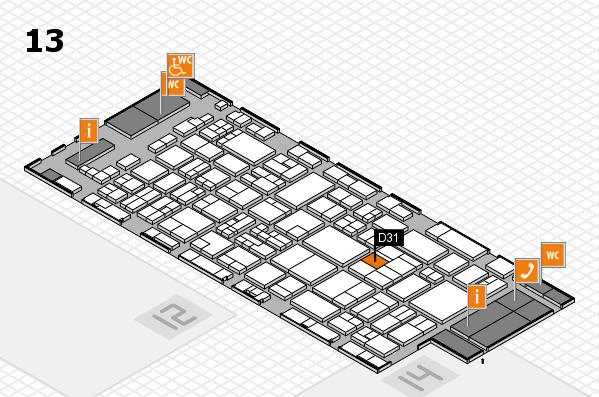 glasstec 2016 Hallenplan (Halle 13): Stand D31