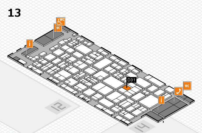 glasstec 2016 hall map (Hall 13): stand D31