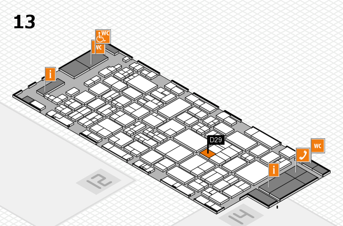 glasstec 2016 hall map (Hall 13): stand D29