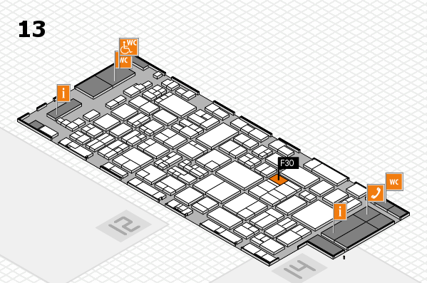 glasstec 2016 hall map (Hall 13): stand F30