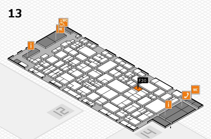 glasstec 2016 hall map (Hall 13): stand F30