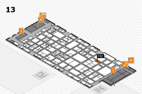 glasstec 2016 hall map (Hall 13): stand F22