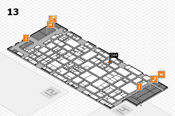 glasstec 2016 hall map (Hall 13): stand G44