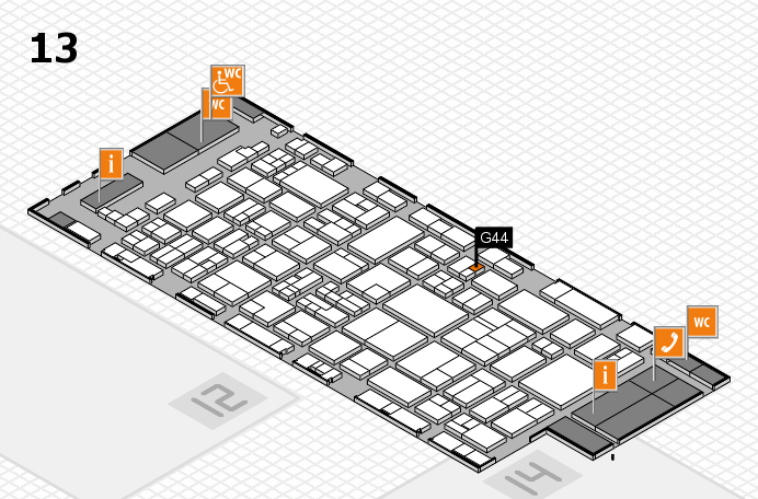 glasstec 2016 hall map (Hall 13): stand G44
