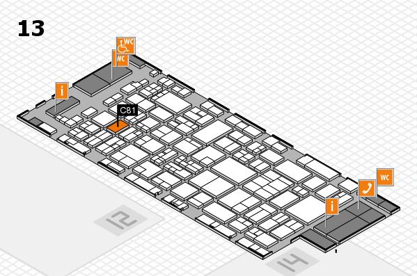 glasstec 2016 Hallenplan (Halle 13): Stand C81