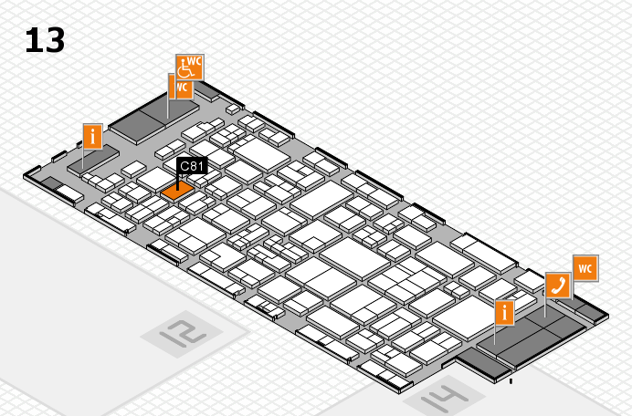 glasstec 2016 hall map (Hall 13): stand C81