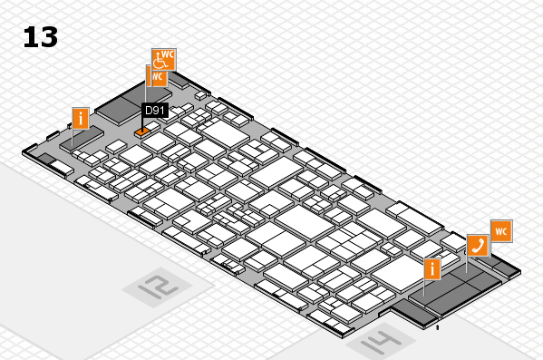 glasstec 2016 hall map (Hall 13): stand D91