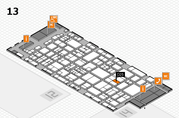 glasstec 2016 hall map (Hall 13): stand D25