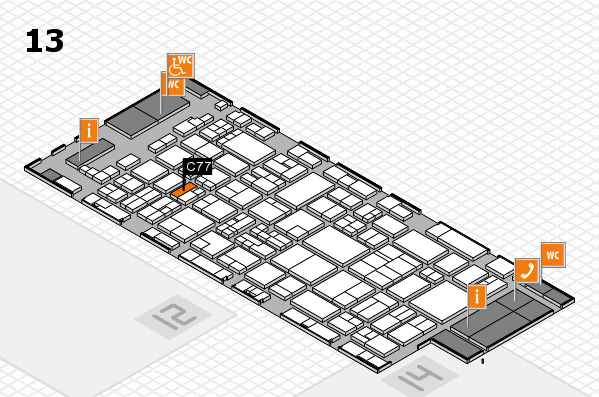 glasstec 2016 hall map (Hall 13): stand C77