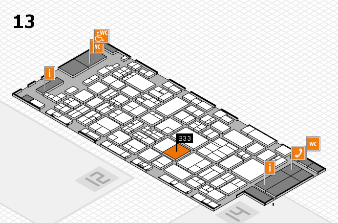 glasstec 2016 hall map (Hall 13): stand B33