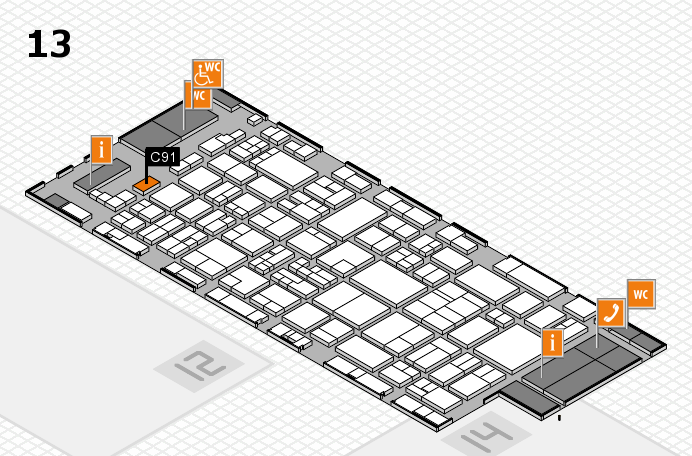 glasstec 2016 hall map (Hall 13): stand C91